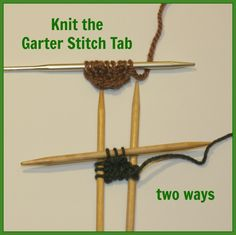 Here is a quick and free tutorial on how to knit the garter stitch tab - which is how all those gorgeous triangular shawls get started.