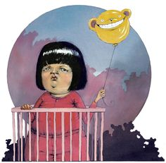 Om triste barn i barnehagen i DBMagasinet Kids And Parenting, Unique Art, Illustrators, Disney Characters, Fictional Characters, Balloons, Lisa, Illustration Art, Barn