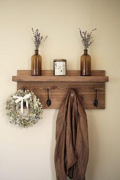 Rustic Wooden Entryway Coat Rack Rustic Wooden Shelf