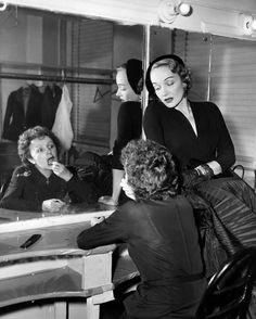 goldenvertigo:  Edith Piaf and Marlene Dietrich, 1952