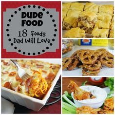 Dude Food ~ 18 hearty favorites that men go crazy for!     www.thekitchenismyplayground.com #FathersDay