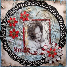 Your Smile ~ Awesome winter page with a great vintage look.