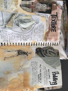 Textiles sketchbook page A Level Textiles Sketchbook, Sketchbook Layout, Gcse Art Sketchbook, Fashion Design Sketchbook, Fashion Design Portfolio, Sketchbook Inspiration, Art Portfolio, Sketchbook Ideas, Sketchbooks