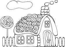 72 Best Icolor Gingerbread Houses Images Coloring Pages