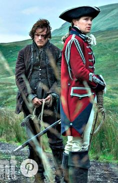 "sam-heughan-daily: ""Sam Heughan as Jamie Fraser and David Berry as Lord John Grey in Outlander Season 3 'Voyager' x "" Voy a llorar ! Voyager Outlander, Outlander 3, Outlander Casting, Sam Heughan Outlander, Outlander Quotes, Outlander Costumes, Lord John, Diana Gabaldon Outlander Series, Jaime Fraser"