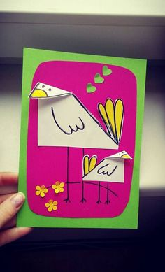 Chick craft and art ideas Diy And Crafts, Crafts For Kids, Art N Craft, Kindergarten Art, Mothers Day Crafts, Elementary Art, Spring Crafts, Craft Activities, Diy Cards