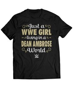 Dean Ambrose Official Apparel - this licensed gear is the perfect clothing for fans. Makes a fun gift! Dean Ambrose Shirt, Wwe Dean Ambrose, Roman Reigns Dean Ambrose, Wwe Shirts, Wrestling Shirts, Watch Wrestling, Ashley Clothes, Seth Rollins, Wwe Wrestlers