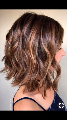 Brown Hair Inspiration, Angled Hair, Short Shag Hairstyles, Hair Color And Cut, Very Long Hair, Hair Images, Shoulder Length Hair, Fine Hair, Highlight
