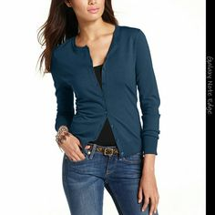 August Silk Long-Sleeve Cardigan August Silk Long-Sleeve Cardigan  Color : Navy Crystal august silk Sweaters Cardigans