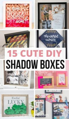 These cute DIY shadow box ideas are perfect if you want to make a gift or display something cute in your home. #shadowbox #diyshadowbox #shadowboxideas Diy Shadow Box, Cute Diys, Make A Gift, Furniture Makeover, Painted Furniture, Diy Home Decor, Easy Diy, Sweet Home, Diy Projects