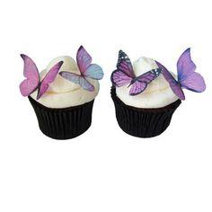 Wedding Cake Topper Edible Butterflies in 24 Prettiest Purple Cupcake Toppers Butterfly Cake De