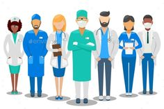 Medical Team Hospital Staff Vector Illustration