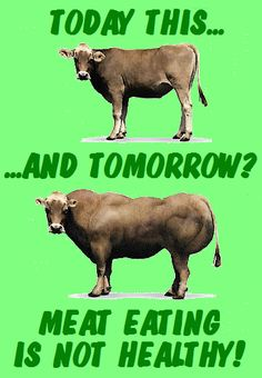 MEAT EATING IS UNHEALTHY AND MORE THEN LIKE CANNIBALISM - IS'S ALSO CRUELY TO OUR SISTERS AND OUR BROTHERS, ALL WORLDWIDE ANIMALS - CHANGE YOUR LIFE AND GO THE ONLY AND RIGHT WAY! WAKE UP ALL YOU UPRIGHT  HUMANS AND EAT ONLY VEGETABLE FOOD! MEAT EATING IS MURDER!!!