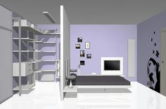 modern Minimalist Walk-in Closet Innovative Design, Cabina Armadio by Porro Bedroom Closet Design, Bedroom Wardrobe, Modern Bedroom Design, Interior Design Living Room, Bedroom Layouts, Room Ideas Bedroom, Home Bedroom, Bedroom Decor, Wardrobe Behind Bed