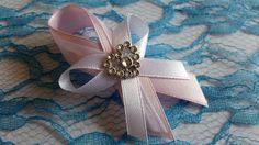 Svadobné pierko staroružová + biela zo srdiečkom