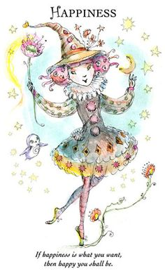 "☆ Witchling: Happiness ""If happiness is what you want, then happy you shall be."" -::- Artist Paulina Cassidy ☆"