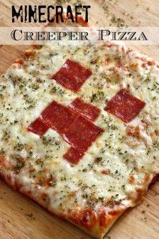 Super leuk voor de kids... Minecraft Pizza.