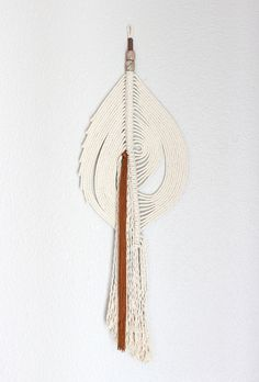 Inspirational Wall Hanging The Pond no One of a kind Handcrafted Macrame Rope art