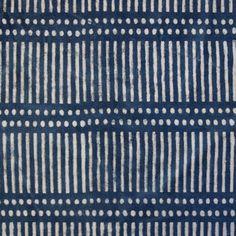 Dash Dot Indigo Canvas - Walter G