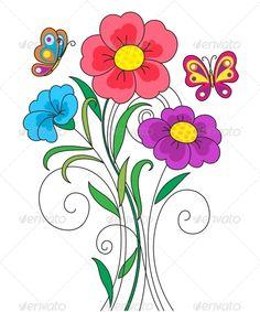 Kidstyle Flower Illustration