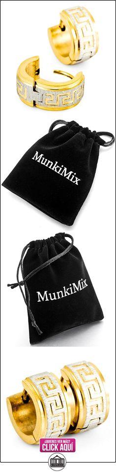 MunkiMix Acero Inoxidable Semental Aro Hoop Huggie Pendientes Plata Oro Dorado Dos Tono Griego  ✿ Joyas para mujer - Las mejores ofertas ✿ ▬► Ver oferta: https://comprar.io/goto/B009X3ZDD4