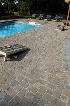 Pool Paver Ideas lafitt patio slab paver Our Most Popular Paver The Classic Cobble Shown Fieldstone Provides Incredible Ease