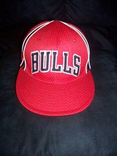 Chicago Bulls NBA Reebok Swingman Jersey Style Fitted Hat-NWOT (7 1/4) #ChicagoBulls