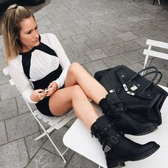 Life is better in boots  #boots #dress Now in stores and Friday 6pm online