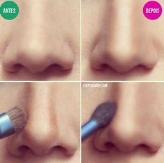 Contour Powder/Cream        Highlight         Angled Brush         Fluffy Blending Brush or Sponge                     If your nose i...