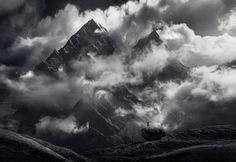 Wonder of Being - Of all the Himalayan images I made, this one shows the scale of the mountains best.  Even though these are somewhat smaller peaks, at around 6000m in height, they towered over our camp from across a deep valley and I used a 60mm lens to fill the frame with them.  I photographed them as the daily convective clouds started to build in the afternoon light, adding the depth needed.  I decided on a custom-toned image here and while it may appear to be B&W there are actually…