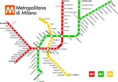 Metropolitana : Cartes de métro Milan , Italie