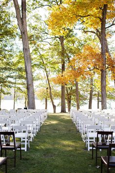 Fall outdoor wedding #ceremony Photography: Sarah Postma Photography - sarahpostma.com  Read More: http://www.stylemepretty.com/2014/05/12/outdoor-fall-wedding-amongst-the-leaves/