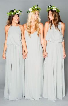 Click through to see our picks of modern bridesmaid dresses long, short, mismatched and everything in-between! #bridesmaiddresses