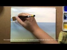 Watercolor painting tutorial SEASCAPE! How to paint and draw! Easy for beginners. - YouTube