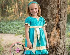 Disney Inspired Brave Merida Peasant Dress for Infants, Toddlers, Girls Sizes 12 mos to Size 10