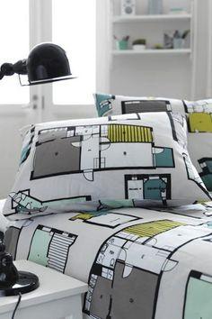 Roupa de cama Kotona (em casa, em finlandês). De Anu Kanervo.