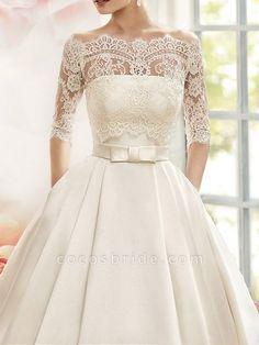 Cheap Wedding Dresses Online, Elegant Wedding Dress, Modest Wedding Dresses, Bridal Dresses, Wedding Gown Lace, Bride Dress Simple, Simple Gowns, Long Sleeve Wedding, Wedding Dress Sleeves