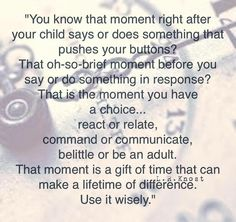 These words of wisdom are true for relating to adults, too, not just children. So needed, but so hard to remember in the heat of the moment. Conscious Parenting, Parenting Advice, Kids And Parenting, Parenting Styles, Gentle Parenting Quotes, Attachment Parenting Quotes, Parenting Classes, Parenting Memes, Foster Parenting