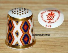 Royal Crown Derby RCD HISTORICAL COLLECTION THE DIAMOND Thimble XLNT