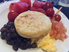 Arepa takes centerstage on the breakfast plate in Colombia