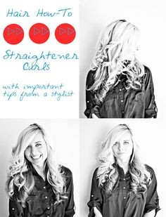 The Shine Project: How To: Flat Iron Curls. And Important Tips on Getting the Perfect Ones.