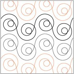 Mod Dots quilting pantograph sewing pattern by Patricia Ritter of Urban Elementz