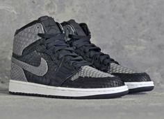 "Air Jordan 1 ""Shadow Python"" by JBF Customs"