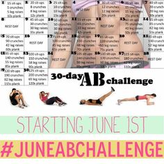 30 day ab challenge....so ready to add this to my routine starting June 1!!