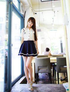 cute skirt, cute outfit, K Fashion,  (≧∇≦)/ casual, cute outfit, Cute Korean Fashion, korea, Korean, seoul, kfashion, kpop fashion, girl's wear, ladies' wear, pretty, kawaii