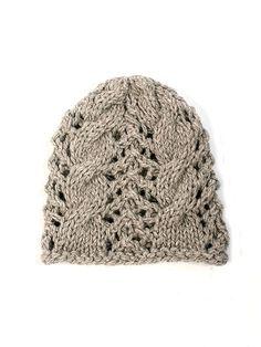 TOFT Beanie knitting pattern: chunky British alpaca wool yarn knitting kit beanie, UK