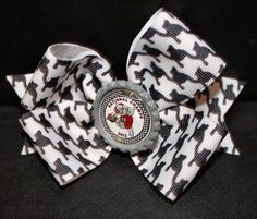Houndstooth Bow with a bootle cap center with clip by iphonecovers