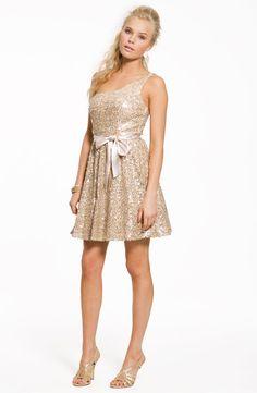 cute gold sequin dress