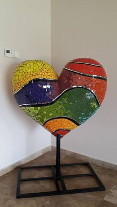 Wood Mosaic, Mosaic Art, Mosaic Glass, Stained Glass, Diy And Crafts, Crafts For Kids, Art Projects, Projects To Try, Teal And Grey