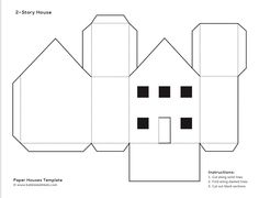 Paper House Template | Paper House Template 19 Free Pdf Documents Download Christmas